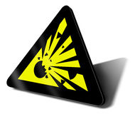 Warning sign explosion Stock Photos