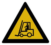 Warning sign - forklift truck Stock Image
