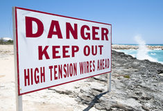 Warning Sign Royalty Free Stock Images