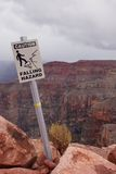 Warning sign. A warning sign in grand canyon west Stock Photos