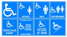Warning sign for handicapped. People Stock Image