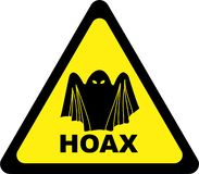 Warning sign with hoax royalty free illustration