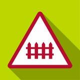 Warning sign icon, flat style Royalty Free Stock Photo
