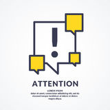 A warning sign, and icon. Informational poster for the site. Stock Photo