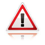 Warning sign icon uk exclamation Royalty Free Stock Image