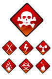 Warning sign icons Stock Images