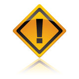 Warning sign icons exclamation Royalty Free Stock Images