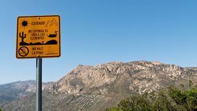 Warning Sign for Illegal Immigrants Stock Photo