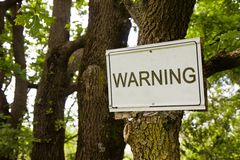 Warning sign indicating in the countryside Royalty Free Stock Photo