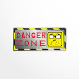 Warning sign with the inscription `danger zone`. Vector illustration. Stock Photos