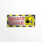 Warning sign with the inscription `danger zone`. Vector illustration. Royalty Free Stock Photography