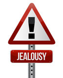 Warning sign with a jealousy Stock Images