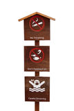 Warning sign. Made of wood Royalty Free Stock Images
