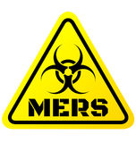 Warning sign of Mers virus Stock Photo
