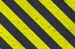 Warning sign on metal texture Stock Image