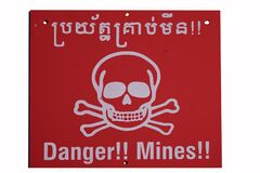 Warning sign from a minefield