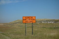 A warning sign for motorists in south Dakota Royalty Free Stock Photography
