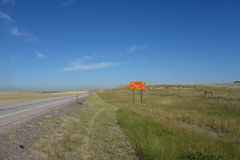 A warning sign for motorists in south Dakota Stock Photography