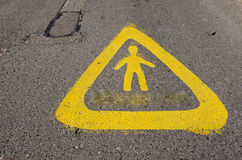 Warning sign near school attention children! Royalty Free Stock Photos