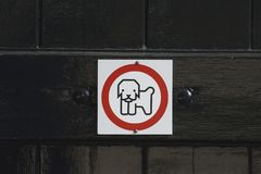 Free Warning Sign No Dogs Allowed Stock Image - 101185611