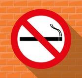 Warning sign `No Smoking`. Stock Image