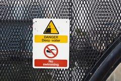 Warning sign no swimming Royalty Free Stock Photos
