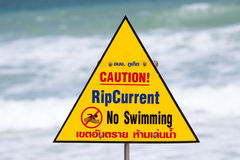 Warning sign with note Royalty Free Stock Image
