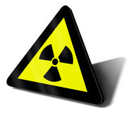 Warning sign nuclear danger. 3d illustration Stock Photos
