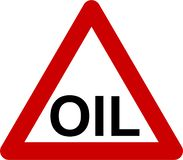 Warning sign with oil text vector illustration