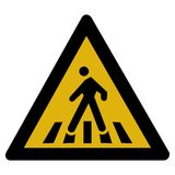 Warning sign - pedestrian Stock Images