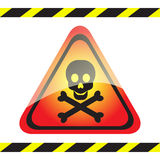 Warning sign of poison on triangular table. Royalty Free Stock Photography