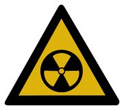 Warning sign - radioactive Royalty Free Stock Photo
