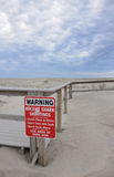 Warning sign Shark Stock Photo