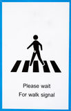 Warning sign for road crossing Royalty Free Stock Photos