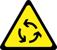 Warning sign with roundabout. Symbol royalty free illustration