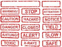 Warning sign set Stock Photography