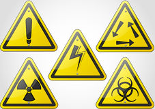 Warning sign set Stock Images