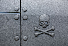 Warning sign skull and crossbones Stock Image