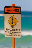 Warning Sign Swimming Rip Tides Currents Royalty Free Stock Image