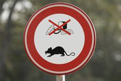 Feeding of waterfowl not allowed due to rat problem. Stock Photo