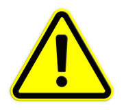 Warning Sign. Traffic sign - Warning Sign accident alarm alert attention Stock Images