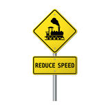 Warning sign traffic railway Stock Image