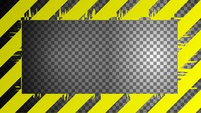 Warning sign on a transparent background, can be used as a frame royalty free illustration