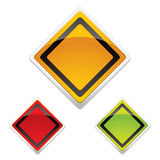 Warning sign trio Royalty Free Stock Images