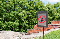 Warning sign Royalty Free Stock Photography