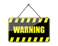 Warning sign (vector) Stock Photo