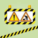 Warning sign vector Stock Photo