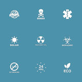 Warning Sign Vector Icon Set Royalty Free Stock Photography