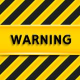 Warning sign. Vector illustration Royalty Free Stock Photography
