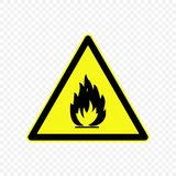 Warning sign Vector illustration. Flammable Warning sign. Hazard symbols Royalty Free Stock Photos